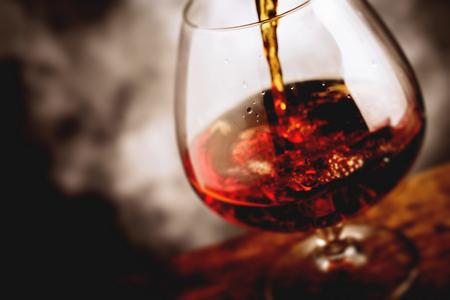bourbon: bourbon glass - tilt shift selective focus effect photo