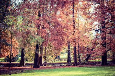 strives: Milan city monuments and places Sempione Park - Vintage style photo Stock Photo