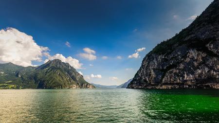 Lake Iseo Sebino Lombardy Italy Stock Photo