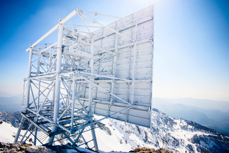 repeater: repeater radio antenna in the high mountains