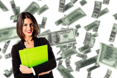 young executive woman earn money Reklamní fotografie