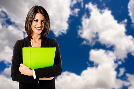 cleantech: young executive woman for clean business Stock Photo