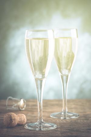 sparkling wine - filtered vintage effect