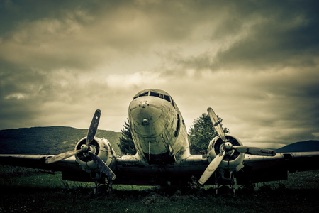 war plane wreck Stock Photo