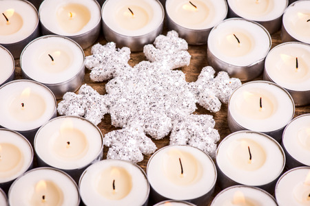 snowflake with candles - heat up