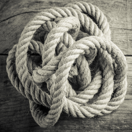 hemp rope tangle black and white photo - intricacy concept