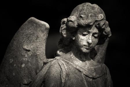 guardian angel black and white photo 版權商用圖片
