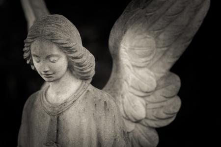 守護天使 - 黑白照片 版權商用圖片