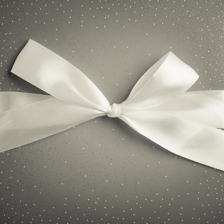 gift box with white ribbon black and white photo 版權商用圖片