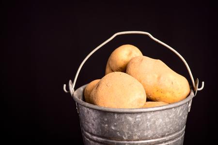 potatoes bucket - vegetarian and vegan 版權商用圖片