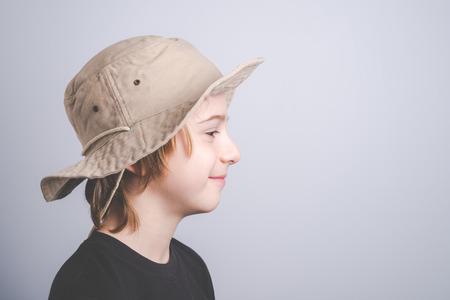 年輕的童子軍,肖像 - 復古風格的照片