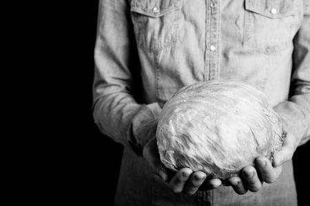 ice salad in hands - vegetarian e vegan people