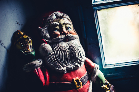 santa claus abandoned vintage - objects and places lost in time