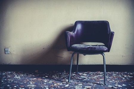 abandoned vintage chair - objects and places lost in time