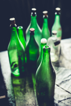 green bottles - objects and places lost in time 版權商用圖片