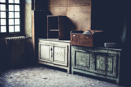 old dirty furniture- objects and places lost in time 版權商用圖片