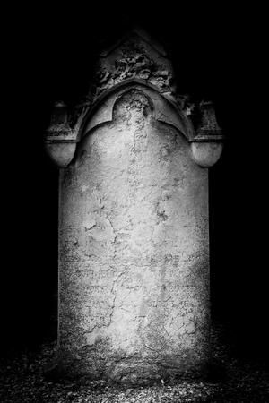 tombstone - black and white photo religious icons