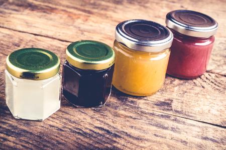 onions wine tomatoes jams - set of tools and jam for cheese tasting - italian food