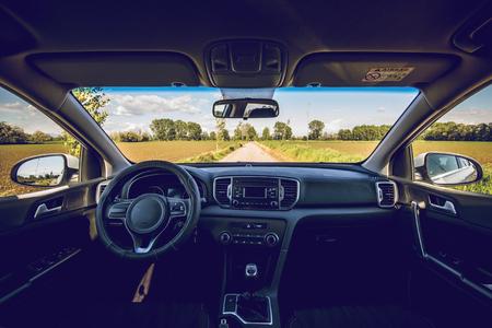 interior of modern car dashboard