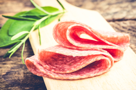 salami - typical food made of pork meat in Italy