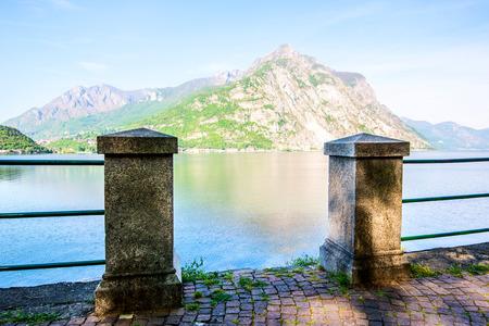 scenery view from Lecco - Como Lake Italian Landscape 版權商用圖片