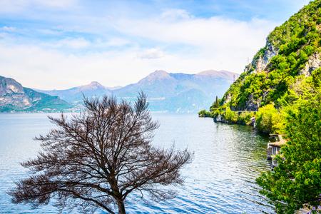 scenery view from the road - Como Lake Italian Landscape 版權商用圖片