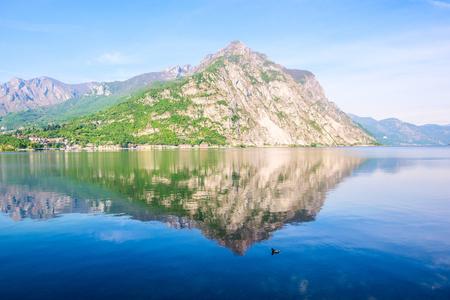 Crocione Mount scenery view from Lecco - Como Lake Italian Landscape 版權商用圖片