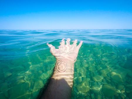 clean sea water - summertime - Sicily mediterranean sea