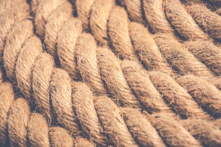 麻ロープ - ヴィンテージスタイルの写真 写真素材 - 95329844