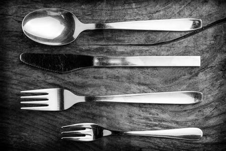 flatware - black and white image 版權商用圖片
