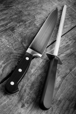 kitchen tools - black and white image