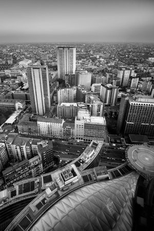 Milan view from above - black and white image