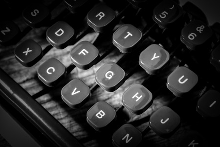 letters - black and white image