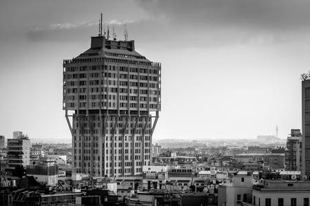 Milan city - black and white image