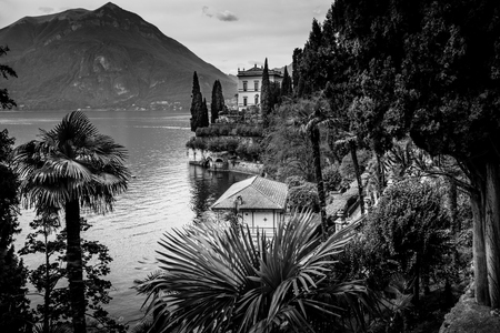 Como lake district - black and white image