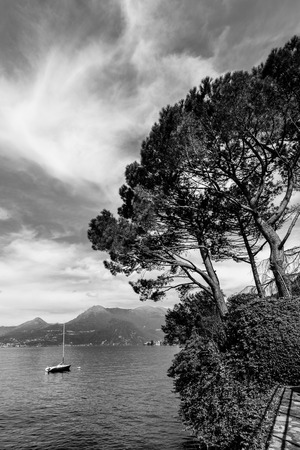 Como lake district - black and white image