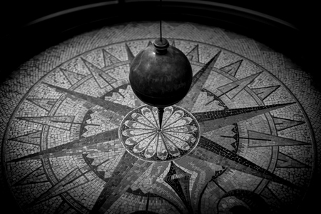 pendulum  - black and white image