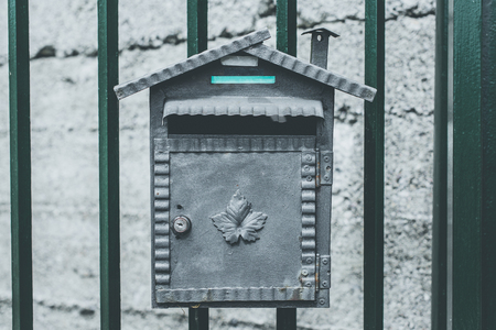 mailbox with surprise - springtime mood - desaturated style image