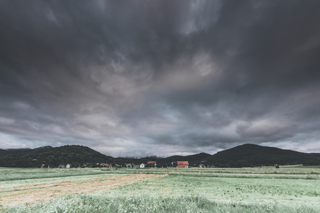 cloudy sky over the countryside 版權商用圖片