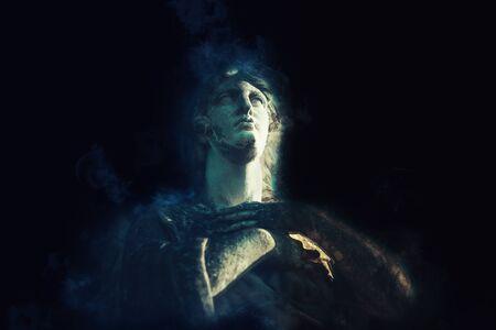 Angel statue. Faith concept. Religion icon.