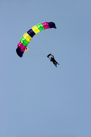 skydive: Skydive in a sunny day of summer Stock Photo