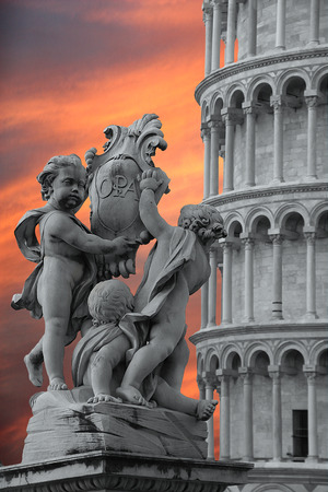 detail of the tower of pisa photo