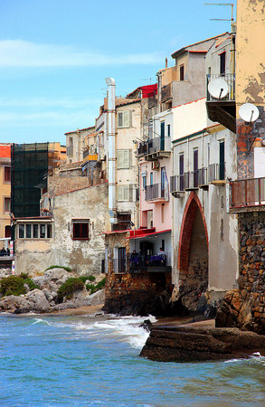 particularly: Particularly typical of the bay of Cefalu Stock Photo