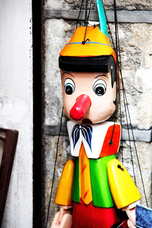 Particularly typical of the puppet Pinocchio photo