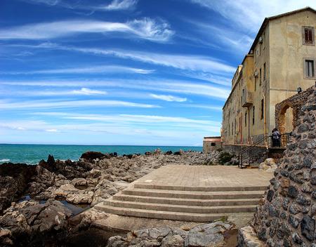 particolare: particolare la costa di Cefal� Archivio Fotografico