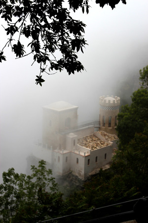 impregnable: Detail of the castle Pepoli Erice Editorial