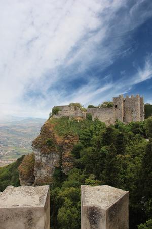 erice: the Pepoli castle in Erice, trapani