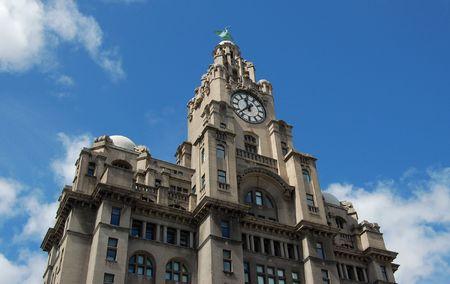 starr: Die Leber Geb�ude im Gesch�ftsviertel der Stadt Liverpool, UK