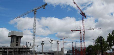 Skyline under construction, taken at the Albert Dock in Liverpool UK photo
