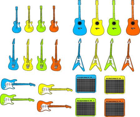 Various Vectored Guitars